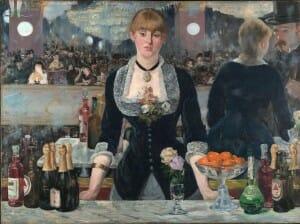 Un bar aux Foilies Bergere by Edouard Manet, 1882, French