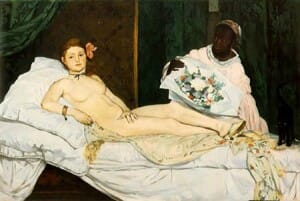 Olympia by Edouard Manet, 1863, French