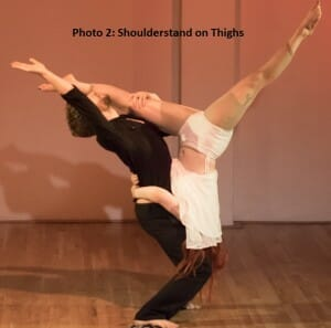 Photo 2: Shoulderstand on thighs