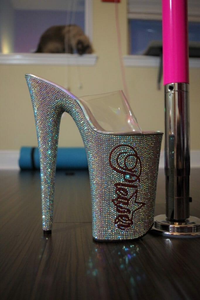 "6/"" Clear Lucite Plastic Platform Basic Pole Fitness Stripper Dancer Heels Shoes"